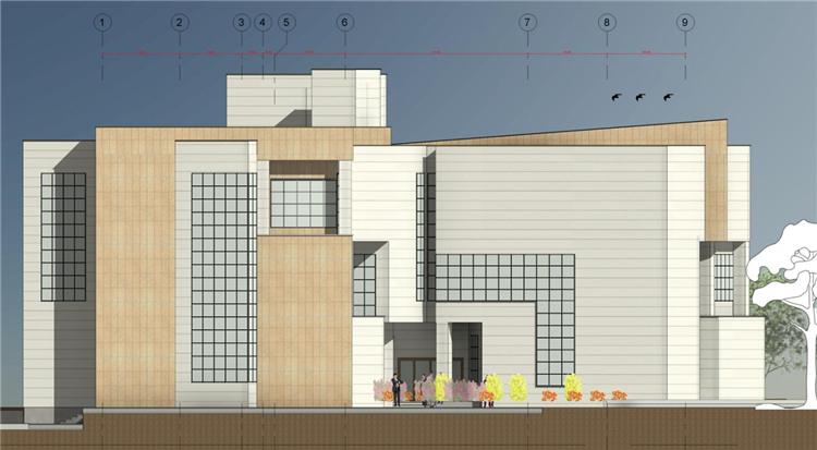多层时尚办公楼revit模型_2