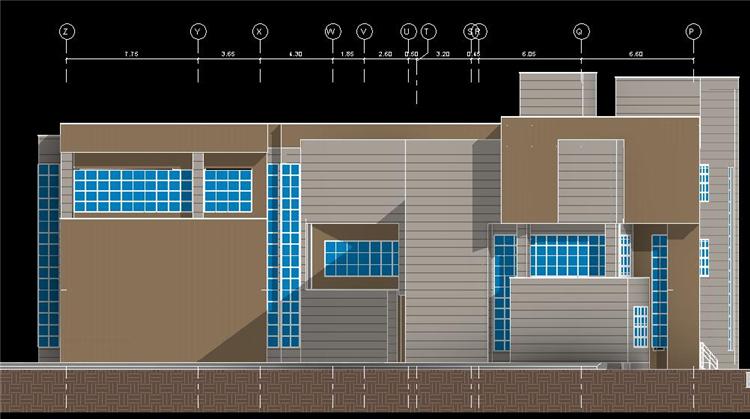多层时尚办公楼revit模型_3