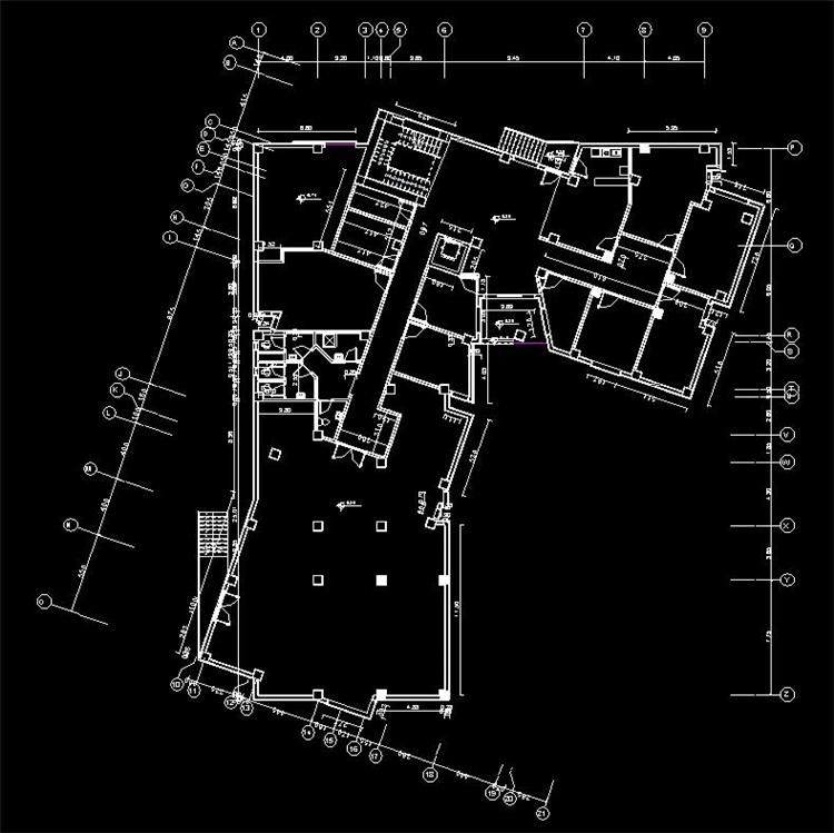 多层时尚办公楼revit模型_5