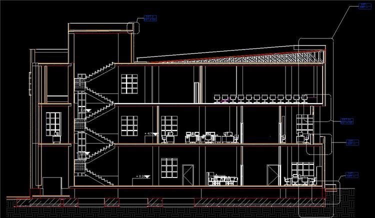 多层时尚办公楼revit模型_6