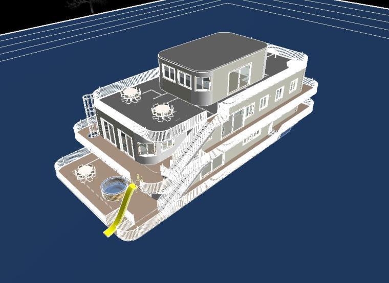 船型多层综合楼revit模型_5