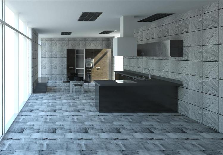 现代风开放式厨房餐厅revit模型_1