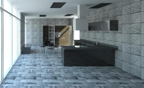 现代风开放式厨房餐厅revit模型