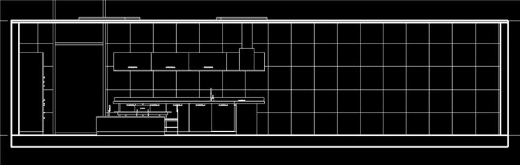 现代风开放式厨房餐厅revit模型_6